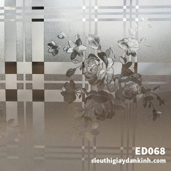 Decal dán kính 3D ED068