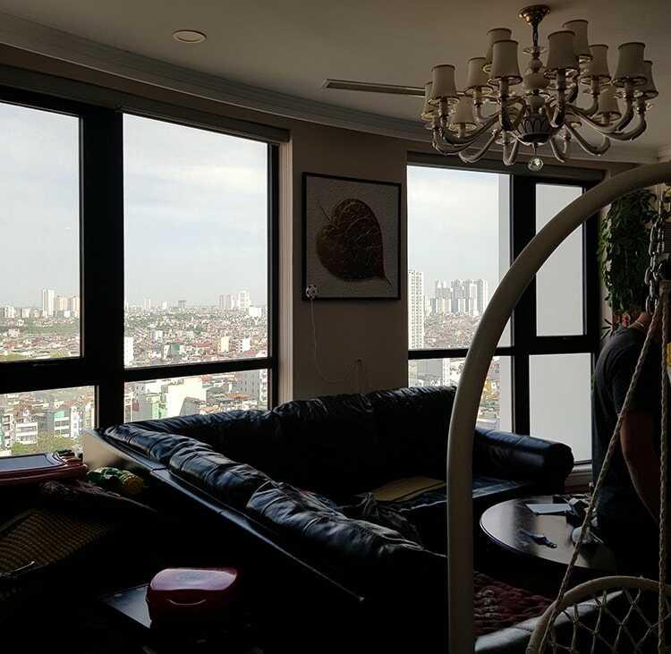 Phim cách nhiệt CNC dòng UV400 trong suốt cho căn hộ Royal City